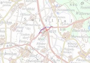 Projekt Umgehung + AS A61 Miel laut BVWP